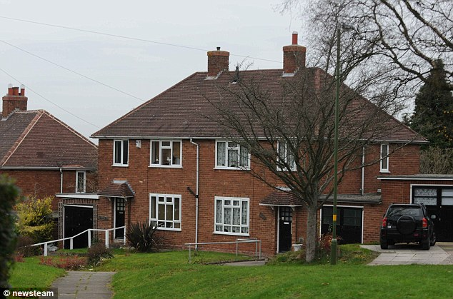 Home: The semi-detached three-bedroom house in Selly Oak, Birmingham, where Miss Buchan lives