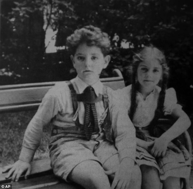 Francis Wahle, pictured when he was about eight years old, with his sister Anna. The pair escaped the grip of Hitler's murder machine fleeing to England as part of the Kindertransport operation