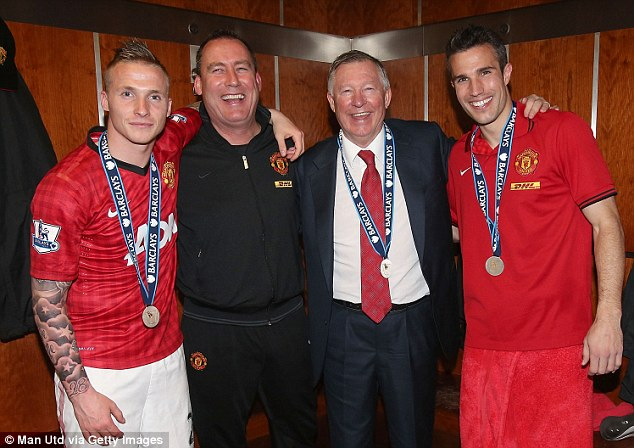 Respected: Rene Meulensteen (second left) was an important coach under Sir Alex Ferguson at Old Trafford