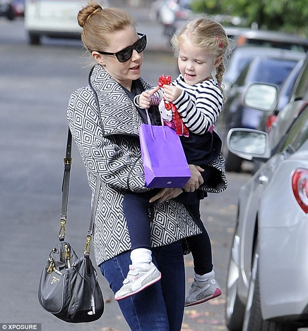 Mommy time: The beauty in late November with her daughter Aviana, aged three