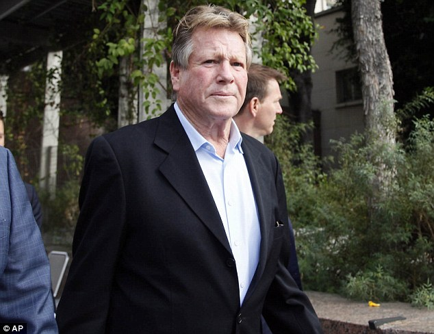 Lawsuit: Ryan O'Neal leaving Los Angeles Superior Court on Monday after testifying in the lawsuit brought by the University Of Texas