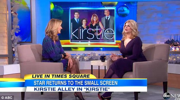 'It's fun': Kirstie told GMA host Lara Spencer that she plays a big Broadway star on her new series, Kirstie, who reminds her a little of Auntie Mame