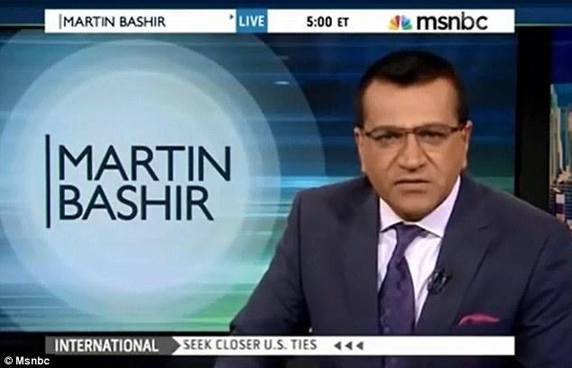 Rant over: Bashir after suggesting Palin endure horrific slave treatments