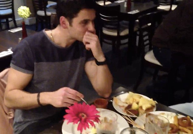 Bit eat: James finished the meal in 36 minutes - comfortably inside the 45 minute limit set by the restaurant