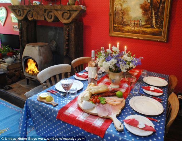 Eating well: The property may be small, but there's enough room for a dining table