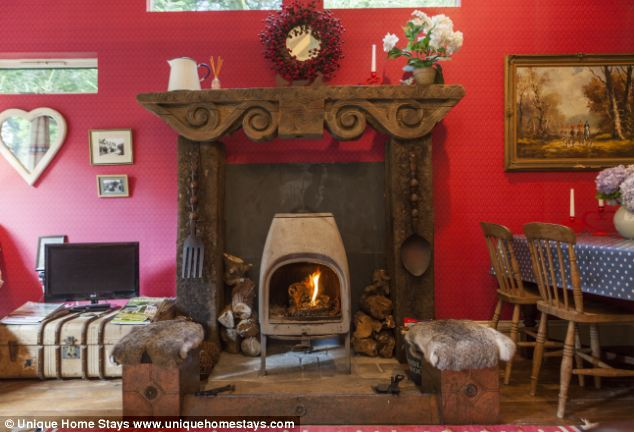 Cosy: The home includes a wood-burning stove and has a bright and fun interior throughout