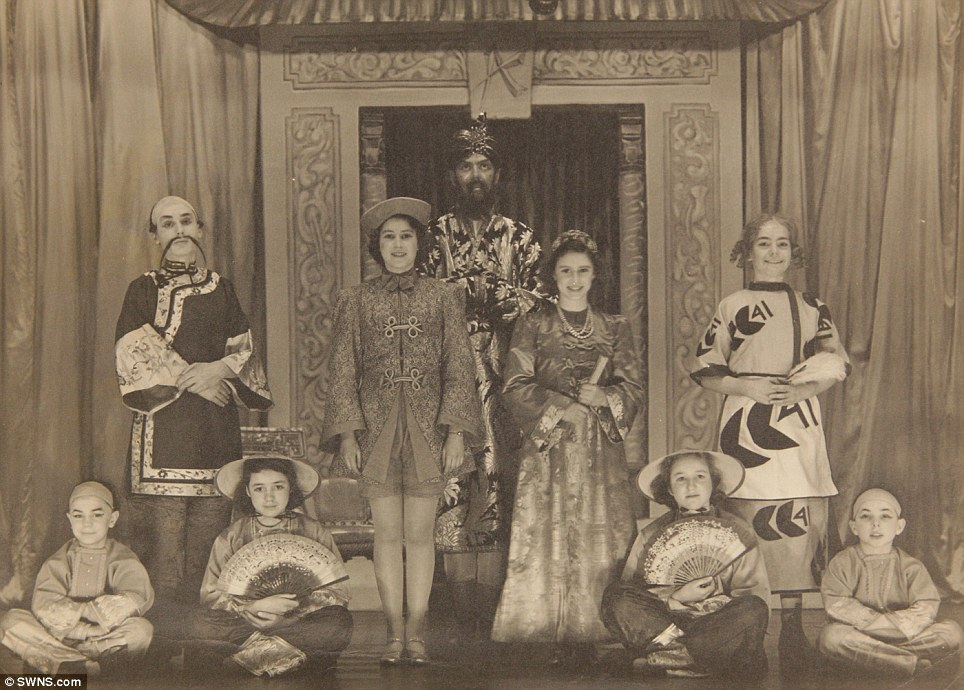 Royal show: Princess Margaret (centre right) and Princess Elizabeth (centre left) in the play Aladdin at the Royal Windsor School in 1943