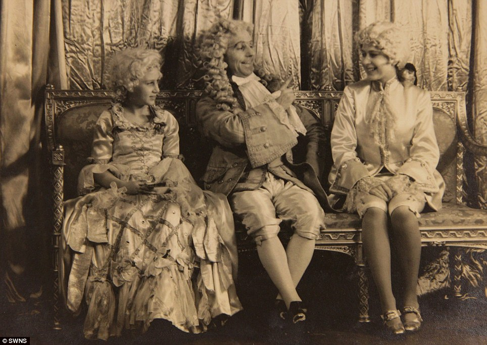 Young stars: Princess Margaret (left) and Princess Elizabeth (right) in the play Cinderella in 1941