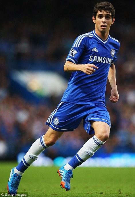 Fleet-footed: Chelsea midfielder Oscar is always on his toes