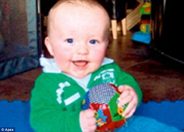 Accident victim: Oisin Twomey, aged 16 months, who died at the scene following the crash in Torquay, Devon, last year