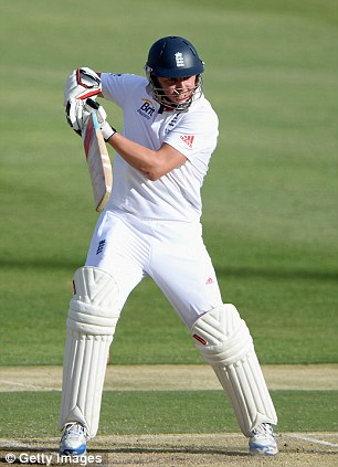 Easy on the eye: England's Gary Ballance could be picked in the team for the second Test