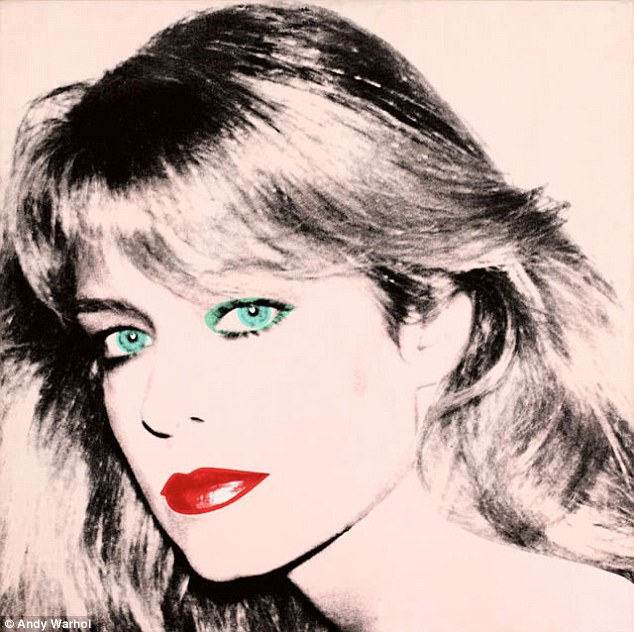 The painting: This Andy Warhol portrait of Farrah is in dispute between Ryan O'Neal and the University Of Texas