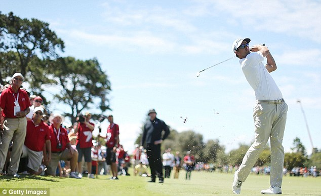 The Australian way: The magnificent Adam Scott was said to be more popular than Tiger Woods in a survey conducted Down Under