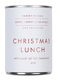 Christmas lunch in a tin