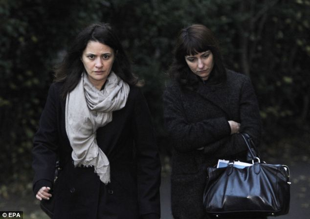 Accused: Sisters Elisabetta (left) and Francesca Grillo (right) deny fraudulently spending almost £700,000 the former couple's money