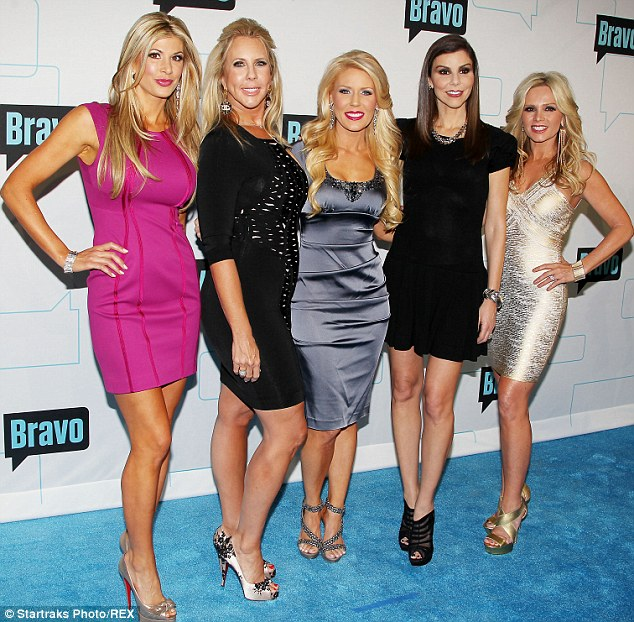 Shakeup: The cast of The Real Housewives of Orange County (Alexis Bellino, Vicki Gunvalson, Gretchen Rossi, Tamra Vieth-Barney and Heather Dubrow at the Bravo upfront in April 2012) recently underwent an overhaul