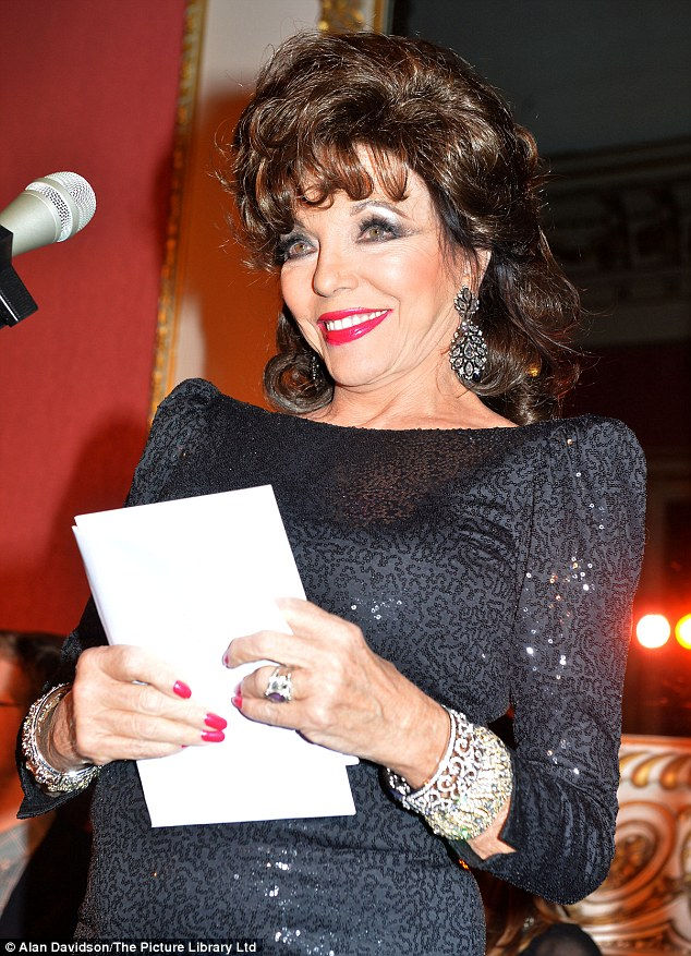 She's a star: Legendary actress Joan Collins was a special guest at the Bad Sex In Fiction Awards on Tuesday evening
