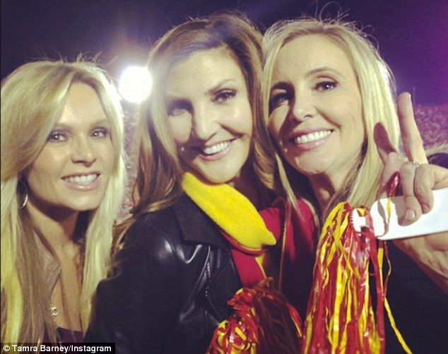 Fast friends: Tamra tweeted out this picture of her new pal Shannon at the USC game this week