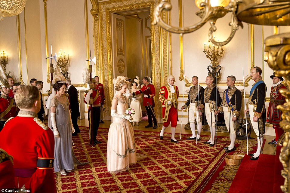 Impressive: The two-hour Christmas Special of Downton Abbey is set at Buckingham Palace