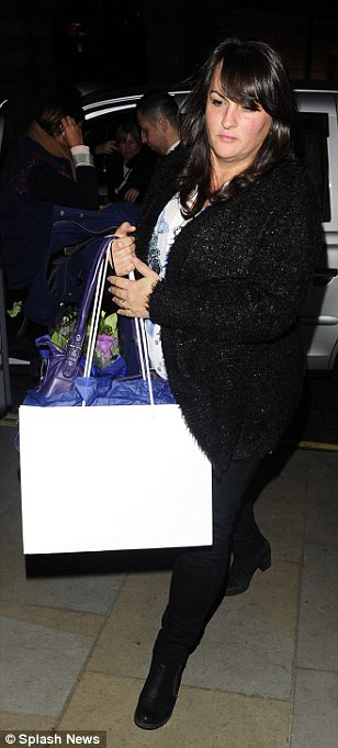 Supportive family: Tom dined at Inamo in Soho on Tuesday night, right with his mother Debbie Daley