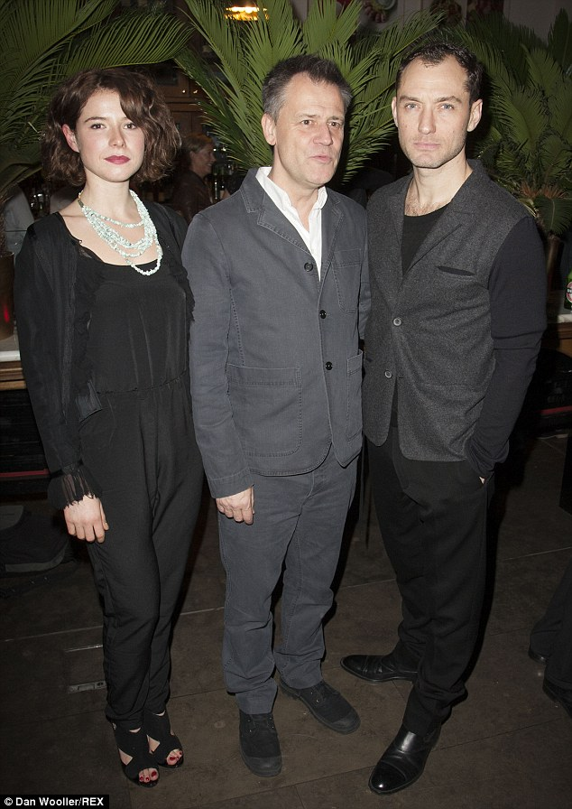 Strike a pose: Jessie and Jude pose with theatre director Michael Grandage