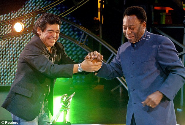 Two of the greatest: Maradona with Pele
