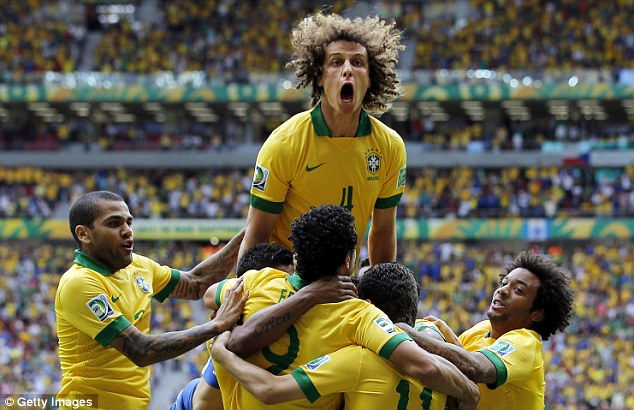 Excitement: Luiz insists that he is just going to enjoy the experience and results will come