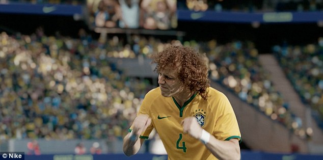 Making it real: Luiz was speaking at the 'Dare to Be Brasilian' screening in London following the launch of the 2014 Brazilian national team kit