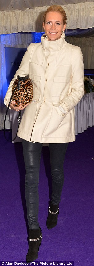Catwalk connections: Poppy Delevingne, the sister of willowy young model Cara Delevingne, also attended the event on Tuesday evening