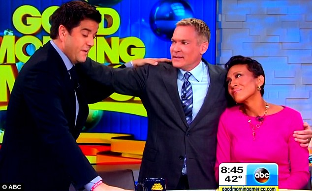 'This is a lot harder than I thought it would be': Champion bid a tearful farewell to his Good Morning America team on December 4