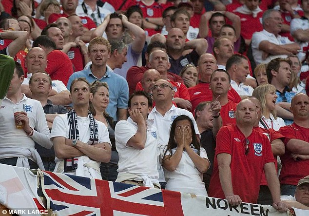 Fear: The FA believe England will be cheered on in Brazil by the smallest number of official supporters seen at a tournament for years