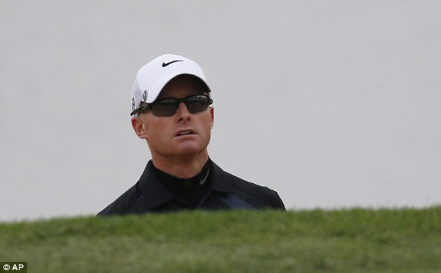 Ousted: Dyson was disqualified from the tournament at the Lake Malaren Golf Club in Shanghai in October