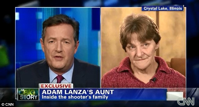 Different perspective: Adam Lanza's aunt, Marsha Lanza (right) said that the massacre has shaken their family to the core and that she too knows what it means to lose a child