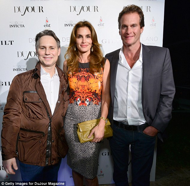 Looking good: Jason Binn, Cindy Crawford and Rande Gerber in varying states of smartness