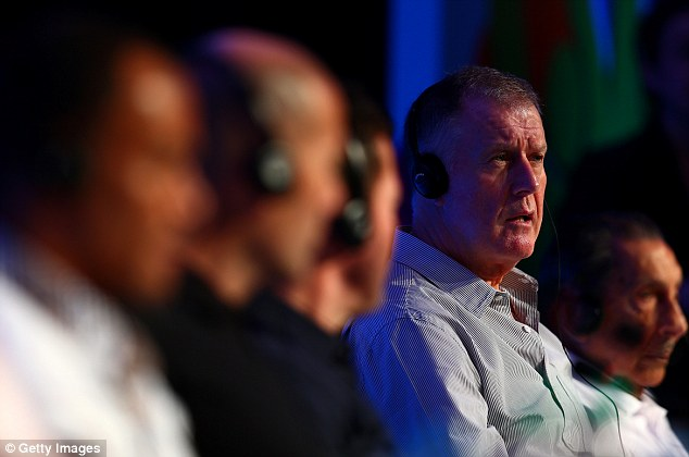In focus: Sir Geoff Hurst, who will assist with the draw, responds to a question