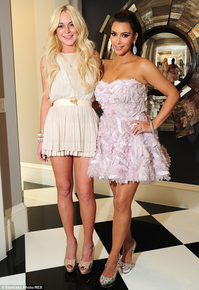 Back in the day: Before she found worldwide fame, Kim used to work as Lindsay's stylist, pictured together in 2011