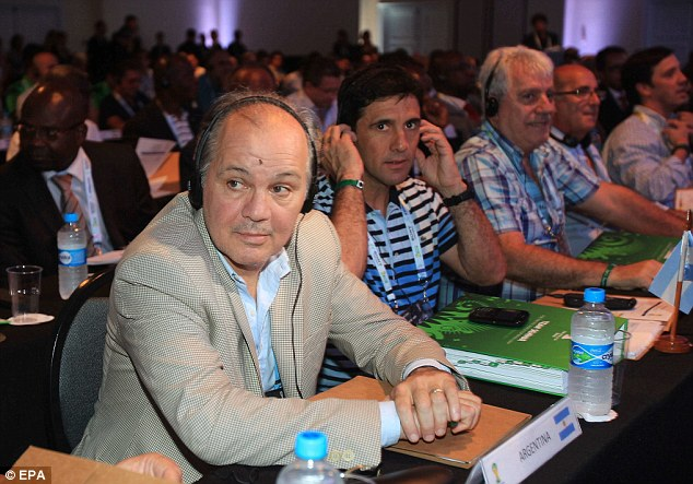 Strongly fancied: Argentinian coach Alejandro Sabella (left) is the choice of many to lift the World Cup next year