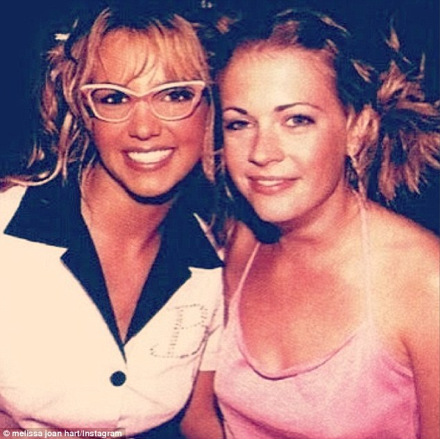 'Can't believe it's been 14 years': The 37-year-old posted this flashback with pal Britney Spears from when she starred in her (You Drive Me) Crazy music video back in 1999, congratulating her on new album Britney Jean