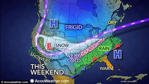Ice and snow: As the arctic blast that's helping power winter storm Cleon pushes south, it's promising conditions both slippery and snow