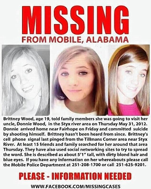 Missing: Brittney Wood hasn't been seen since May, 2012