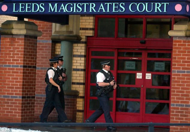 Chadwick was due to appear this morning at Leeds Magistrates' Court, pictured during a case in 2007