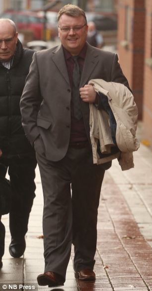 Cy Chadwick arriving at court today