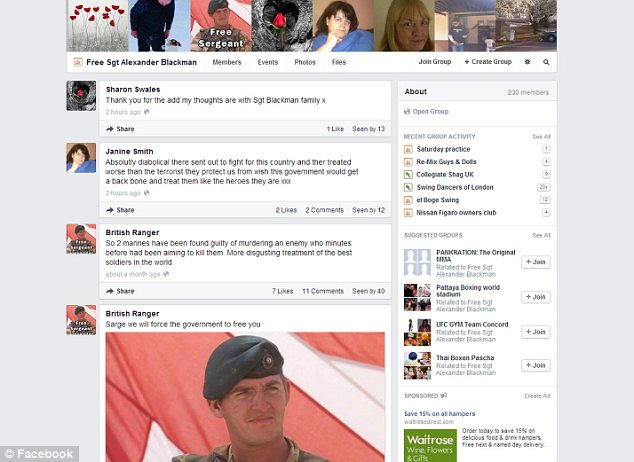 Fans: A Facebook group set up in support of Blackman after his name was released