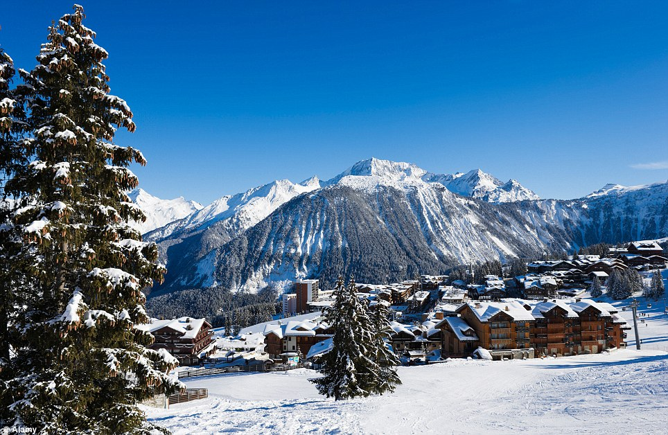 Exclusive: Dubbed the 'St Tropez of winter', Courchevel is hugely popular with the jetset and has previously welcomed the Duke and Duchess of Cambridge among others