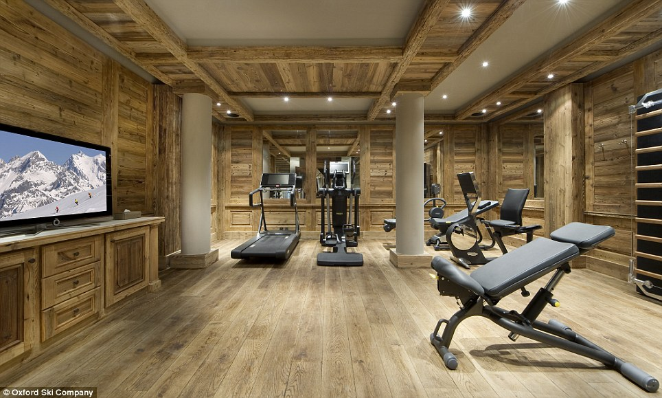Sporty: For those who need to work off a few calories after indulging in delicious fare created by the two private chefs, there's a fully stocked gym