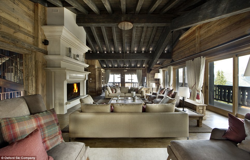 Cosy: Despite its large size, Chalet Eidelweiss is kept warm and well-stocked by its complement of full-time staff
