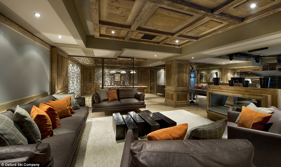 Soiree: The chalet has its own night club, complete with comfortable sofas and a fully stocked bar, in which to throw your own private party with family and friends