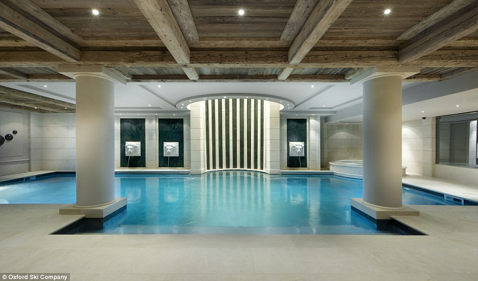 Convenient: If skiing feels like too much effort, the chalet has a huge indoor pool as well as two massage rooms and a Turkish hammam (steam bath)