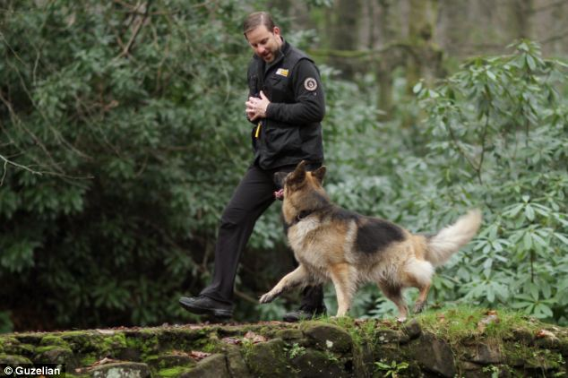 Scared: German Shepherd Olla would get so easily spooked that any new experiences would make him howl in terror