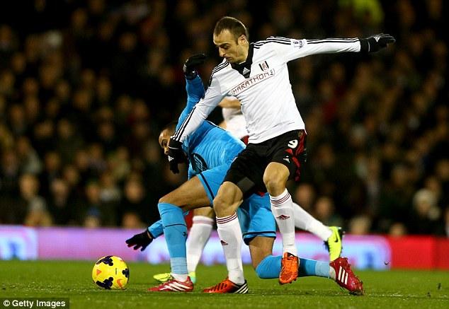 Star man: Fulham want Dimitar Berbatov to stick around to help their relegation battle